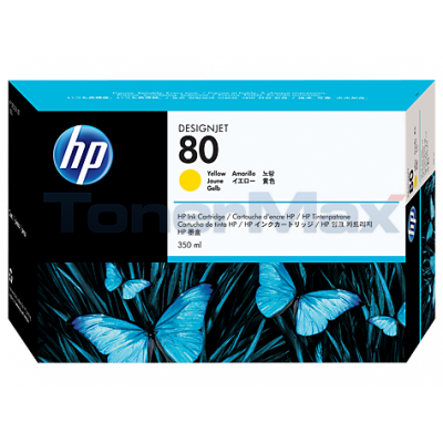 HP DESIGNJET 1050C NO 80 INK YELLOW 350ML